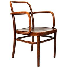 Gustav Adolf Schneck; Bent Beech and Beech plywood Armchair for Thonet, 1930.