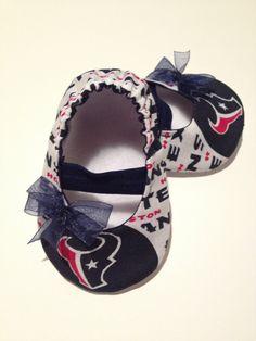 Houston Texans Baby Maryjane Booties on Etsy, $15.00 cute!!!!!