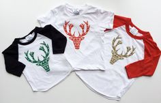 The Holiday Elk Kids Christmas Shirt Toddler by SandiLake on Etsy