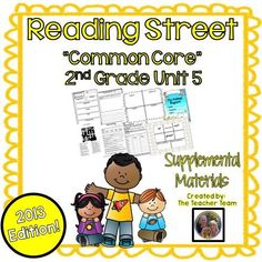 Reading Street 2nd Grade Unit 5 Supplemental Materials 2013 : This bundle contains a variety of activities from each lesson of Unit 5 to teach, re-teach, practice or assess the various lessons taught. Each activity is unique to each lesson. $