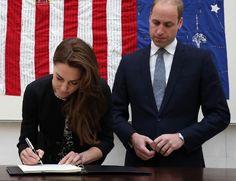 William en Kate schrijven in condoleanceregister slachtoffers Orlando - Beau Monde