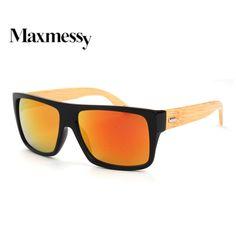 Zalesione Vintage Bambusa Okulary Drewna Nogi Okulary Przeciwsłoneczne Damskie Marka Projektant Mężczyźni Jazdy Okulary