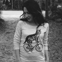 Check out all the styles we have for the cat on bike design.