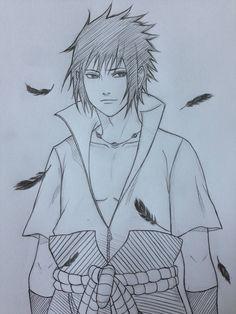 by JainaNaberrie on DeviantArt Sasuke Drawing, Naruto Sketch Drawing, Naruto Drawings, Anime Drawings Sketches, Anime Sketch, Manga Drawing, Naruto Fan Art, Anime Naruto, Naruto Shippuden Sasuke