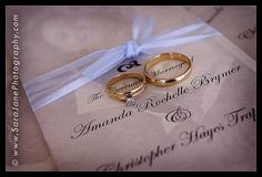 rings on the invitation, super cute!