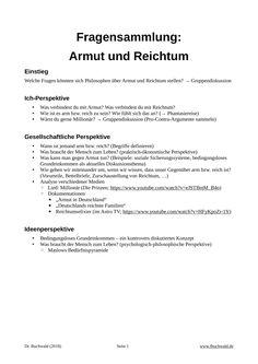 möglichkeiten über nacht reich zu werden armut und reichtum in deutschland unterrichtsmaterial
