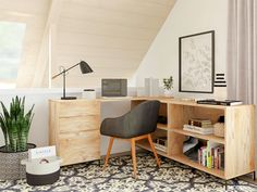 The Ultimate Home Office Furniture Guide   Modsy Blog Small Home Office Furniture, Best Home Office Desk, Home Office Space, White Furniture, White Writing Desk, Office Chairs For Sale, Office Color Schemes, Creative Office Space, Design Ideas