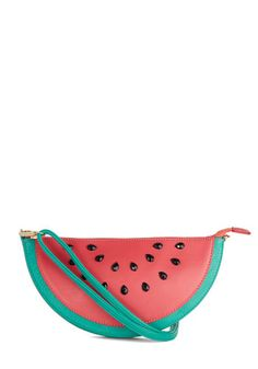 Forever Fruitful Bag - Red, Green, Black, Fruits, Faux Leather, Mixed Media