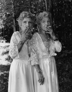 Smoking old ladies... If we still have lungs lol!