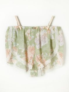 """Intimately T-back Racer Tank at Free People Clothing Boutique """"Floral printed tulip-shaped boxer shorts with lace trimming and stretchy waist."""""""