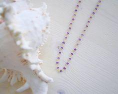 Amethyst Rosary Neck