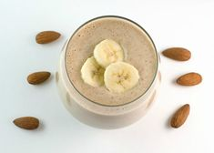 Super Foods Power Smoothie ~ Savory Simple Almond, banana, and greens Power Smoothie, Juice Smoothie, Smoothie Drinks, Healthy Smoothies, Healthy Drinks, Smoothie Recipes, Healthy Snacks, Vanilla Smoothie, Coconut Smoothie