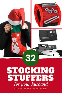 Stocking Stuffers for Your Husband: tons of ideas, most under $20! Sexy Stocking Stuffers for Your Man, Handy Stocking Stuffers, Smart Stocking Stuffers, Yummy Stocking Stuffers for Him--and more!