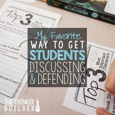My Favorite Way to Get Students Discussing & Defending // Article by The Thinker Builder