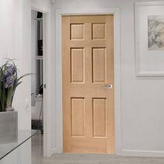 Bespoke Colonial Oak 6 Panel Door without Raised Mouldings.  #internaldoor #madetomeasuredoor #bespokedoor
