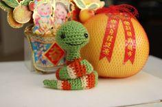 IMG_1883 New Year Snake  ~Free pattern at http://www.littlemuggles.com world of amigurumi.~