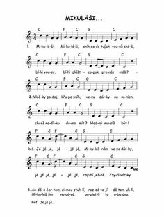 Mikulas Elementary Music, Teaching Music, Kids And Parenting, Advent, Activities For Kids, Sheet Music, Preschool, Songs, Autism