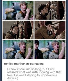 Maybe he did this because he believed Merlin but maybe it was because he was doing his best idiot impression