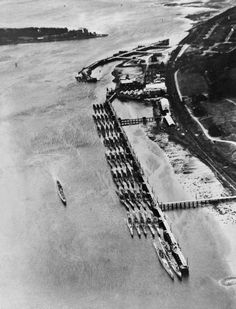 3rd Reich KMS Surrendered German U-boats moored at Lisahally May 1945.