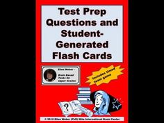 Test Prep Questions and Student Generated Flash Cards.  Do your students generate great questions to prepare for tests?   https://www.teacherspayteachers.com/Product/Test-Prep-Questions-and-Student-Generated-Flash-Cards-1160714  As students pose questions and play with answers through brain based tasks and games