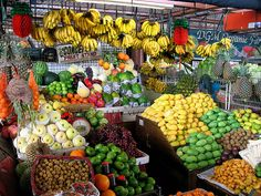 Buy fruits & veggies from an actual outdoor market, not Walmart! (This market is in the Philippines)