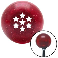 White Dragon Ball Z 7 Star Red Metal Flake Shift Knob with M16 x 15 Insert - Give your interior the ultimate look. American Shifter's Elite(TM) series shift knobs are made from the highest quality components resulting in a superior feel on every shift. Each shift knob is designed and customized in the USA by skilled shift knob artisans who have a trained eye on every detail. American Shifters shift knobs offers an exclusive aluminum threaded insert designed to be screwed onto your shift arm…