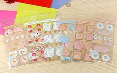 6pcs/set Gift Stickers - Deco Stickers - Lace Stickers - For You 6sheets in