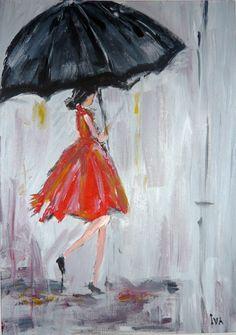 SOLD.  Acrylic Painting by Iva Ivanova