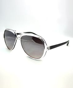 5e4a83425b0 Another great find on  zulily! Black  amp  Clear Pilot Sunglasses by Big  Buddha