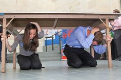 How do you properly Drop, Cover, and Hold On when you feel shaking? Take a look below at ShakeOut coordinators demonstrating in #DC last month. Remember: DROP to the ground, take COVER underneath a sturdy table or desk, and HOLD ON to it. We are less than 30 days till ShakeOut - stay with us as we publish a tip for each day that we inch closer to 10/17 at 10:17 a.m. Register now: http://shakeout.org/california/register