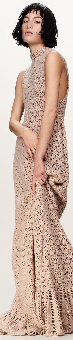 beige maxi crochet dress @roressclothes closet ideas women fashion outfit clothing style