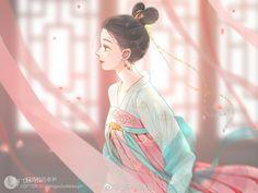 Cute Anime Coupes, Anime Art Fantasy, Anime Drawings Sketches, China Art, Beautiful Girl Image, Beautiful Life, Anime Angel, Cute Cartoon Wallpapers, Girls Life