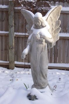 Snow Angel…………MAKING SURE THE BACK YARD WILL BE MOISTENED BY RAIN, SLEET, HAIL AND SNOW……SHE LOVES IT WHEN IT COMES UP EVER SO GREEN IN THE SPRING AND KNOWS SHE HAS DONE HER JOB…………..ccp