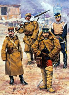Japanese troops in Korea, winter, Russo-Japanese War