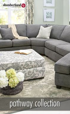 Gentil Pathway Collection | Sectional Cuddler Sectional, Living Room Furniture Sets,  Farmhouse Ideas, House