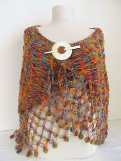 Multicolor Capelet Oversized FREE  Worldwide by asuhan on Etsy, $70.00