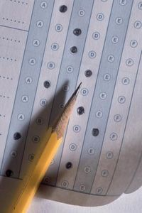 """IOWA Basic Skills Test. Be sure to have two sharpened Number 2 pencils, and fill in the circles completely... And when time ran out - """"Pencils up, everyone!"""""""