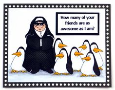 Nun, Penguin Balloon, Cool Cat digital images by Blue Kube