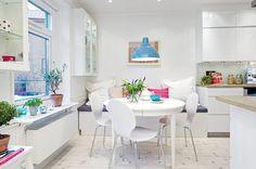 dcoracao.com - blog de decoração: Truques pro apartamento parecer maior II Será que mesa redonda (e com extensão) é a solução?