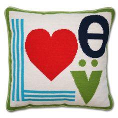 Jonathan Adler Mod Love Needlepoint Pillow