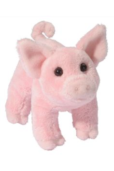 "Soft pink pig for ages 24 months and up.  Measures: 4.5""  Buttons Pig by Douglas. Home & Gifts - Gifts - Gifts by Occasion - Baby & Kids Oregon"