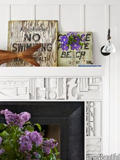 The living room fireplace was inspired by the work of sculptor Louise Nevelson.