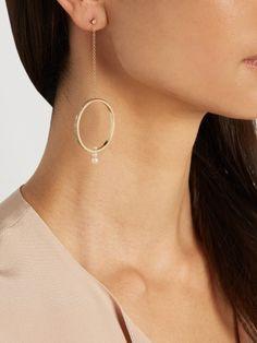 Anissa Kermiche Diamond, pearl & yellow-gold earring