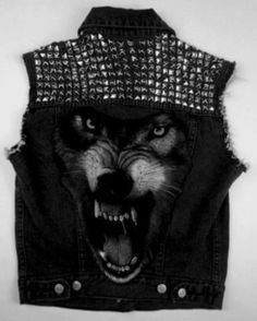 jacket wolf studs awesome jeans jeans jacket studded 3d punk