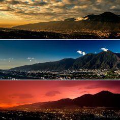 Varias fotos de Caracas con el Avilal amanecer,mediodia y atardecer Tomada de Facebook. ¡Viva Venezuela!