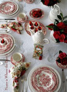 Johnson Brothers Devon Cottage dinner set.   China: Transferware ...
