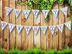 Shop for happy birthday banner on Etsy, the place to express your creativity through the buying and selling of handmade and vintage goods. Shower Inspiration, Happy Birthday Banners, Girly, Baby Shower, Holiday Decor, Unique Jewelry, Awesome, Handmade Gifts, Etsy