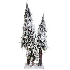 "Présentoir ""Sapins des Alpes"" 24 x 16 x 80 cm"