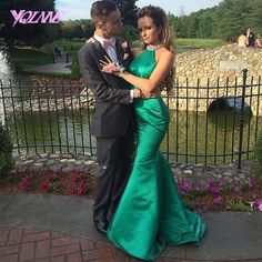 Find More Prom Dresses Information about Stunning Green Mermaid Prom Dresses…
