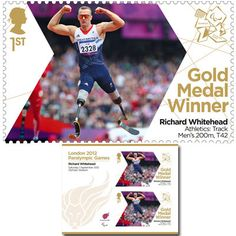 Large image of the ParalympicsGB Gold Medal Winner Miniature Sheet - Richard Whitehead